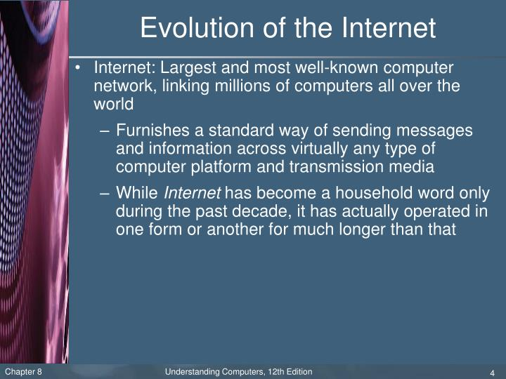 Evolution of the Internet
