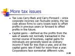 more tax issues