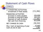 statement of cash flows 20021