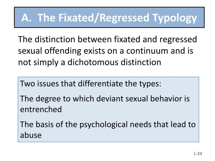 A.  The Fixated/Regressed Typology