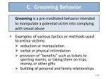 c grooming behavior