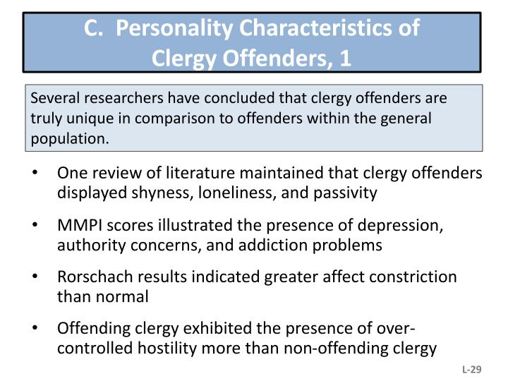 C.  Personality Characteristics of