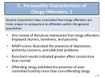 c personality characteristics of clergy offenders 1