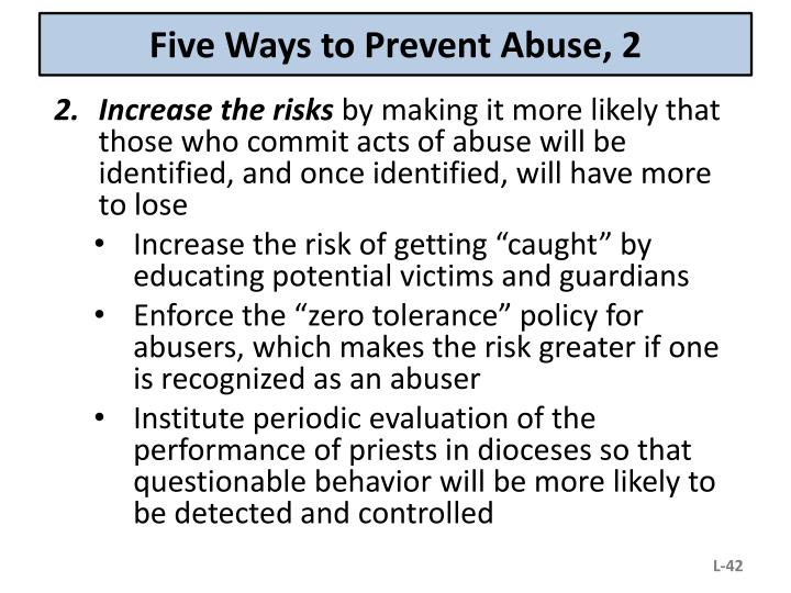 Five Ways to Prevent Abuse, 2
