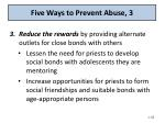 five ways to prevent abuse 3