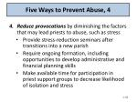 five ways to prevent abuse 4