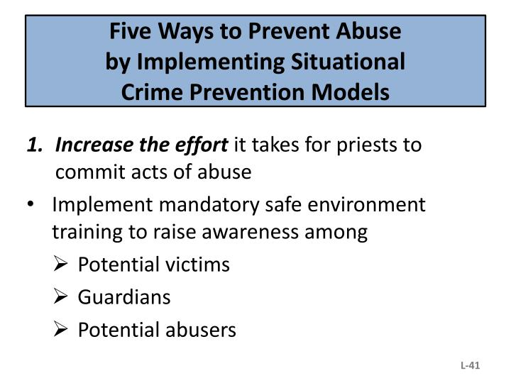 Five Ways to Prevent Abuse