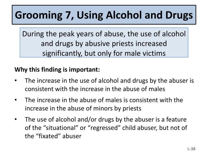 Grooming 7, Using Alcohol and Drugs