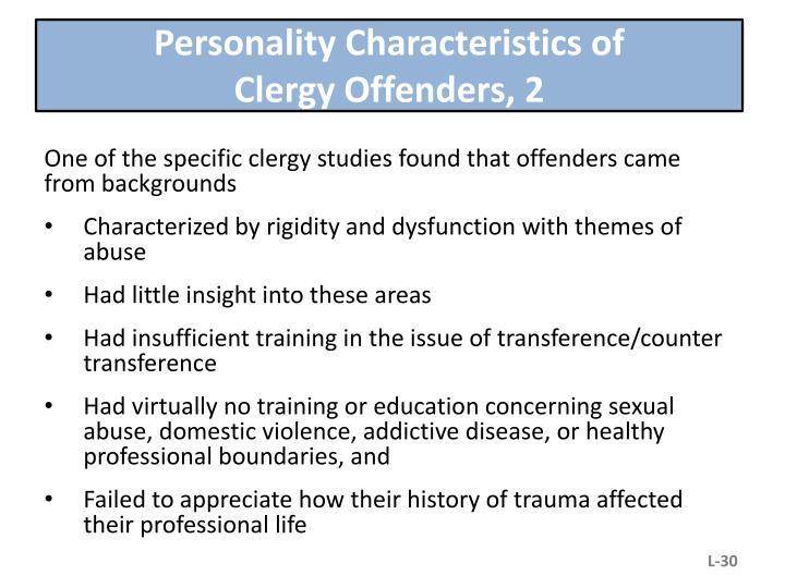 Personality Characteristics of
