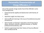 personality characteristics of clergy offenders 2