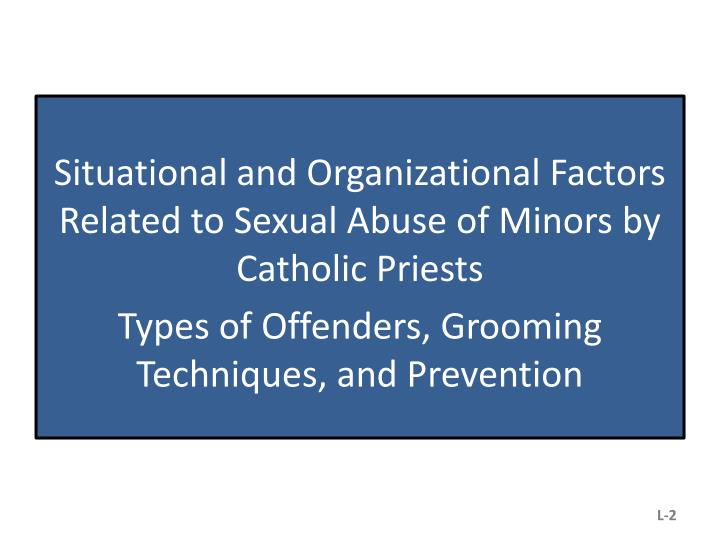 Situational and Organizational Factors Related to Sexual Abuse of Minors