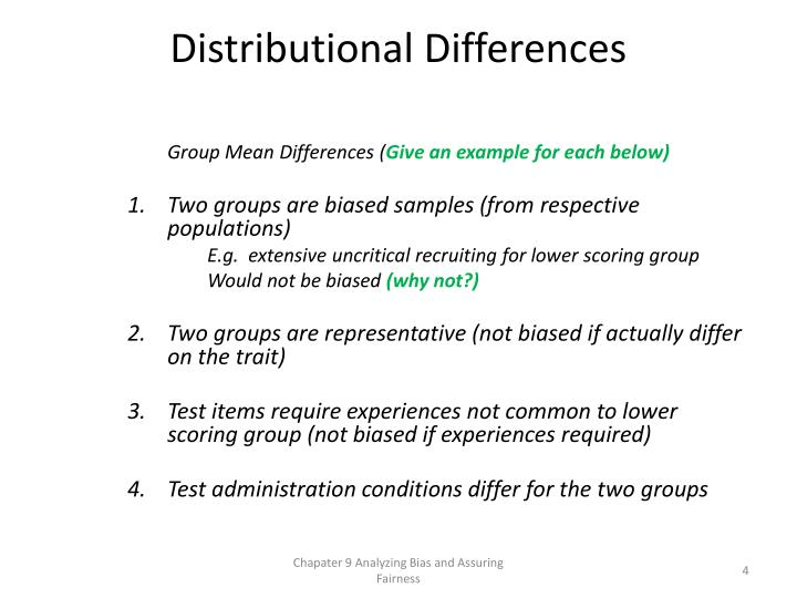 Distributional Differences