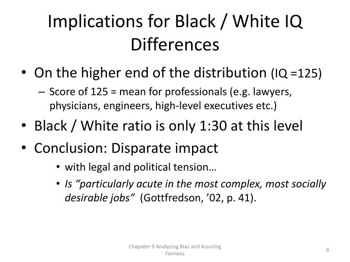 Implications for Black / White IQ Differences