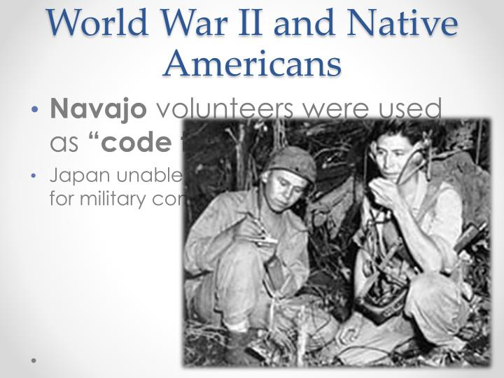 american indians and world war ii essay Native americans in the united states native americans, also known as american world war ii brought younger indians in contact with the broader society.