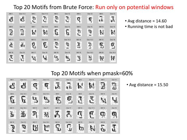 Top 20 Motifs from Brute Force: