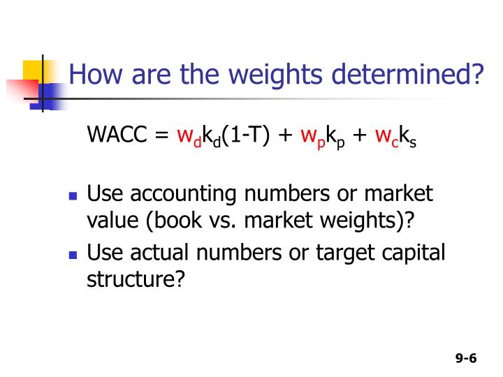 How are the weights determined?