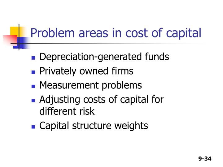 Problem areas in cost of capital