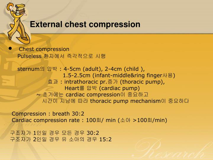 External chest compression
