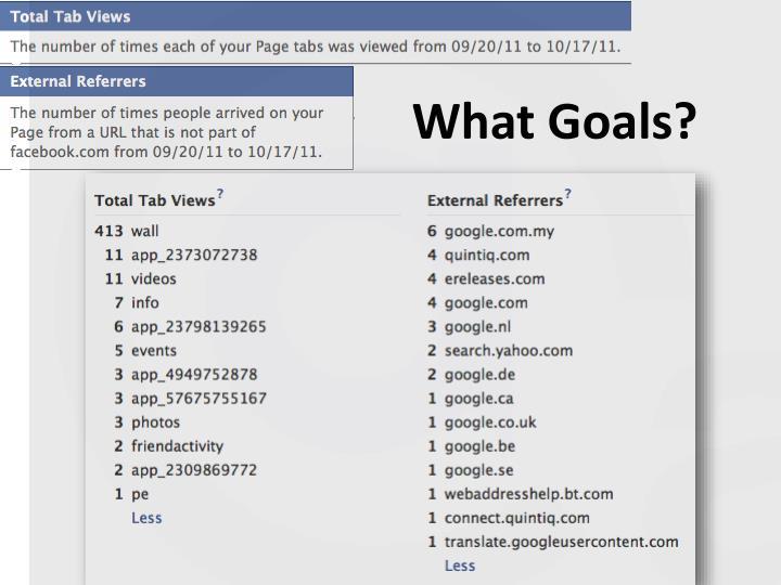 What Goals?