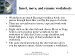 insert move and rename worksheets