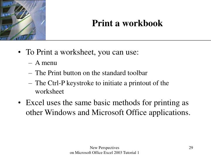 Print a workbook