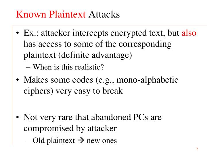 Known Plaintext