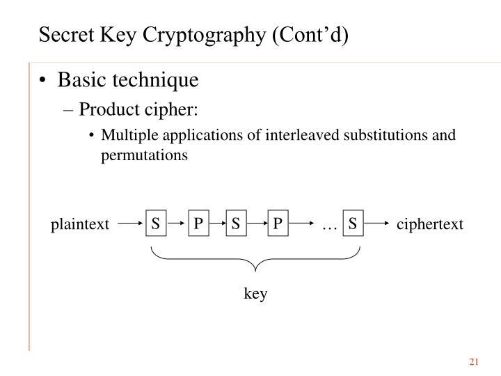 Secret Key Cryptography (Cont'd)