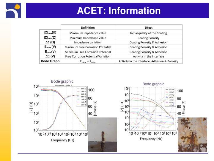 ACET: Information