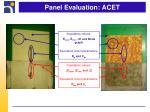 panel evaluation acet