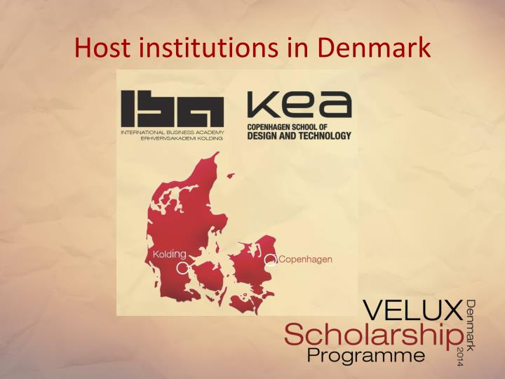 Host institutions in Denmark