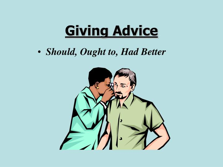 Giving Advice