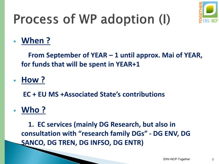 Process of wp adoption i