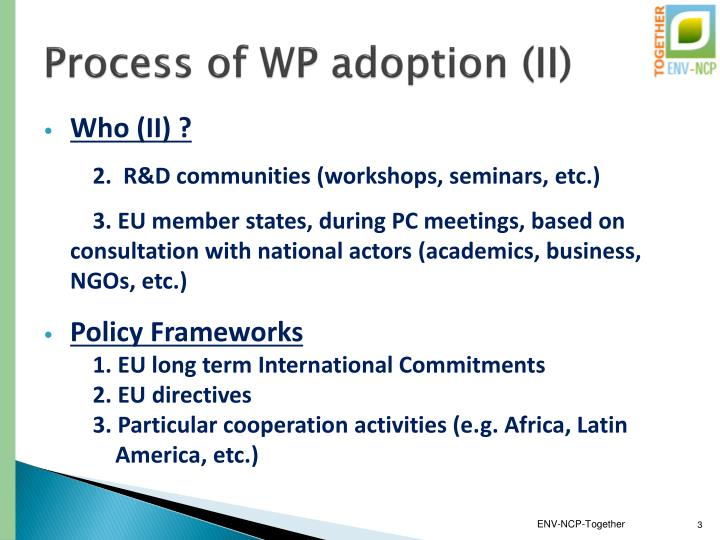 Process of wp adoption ii