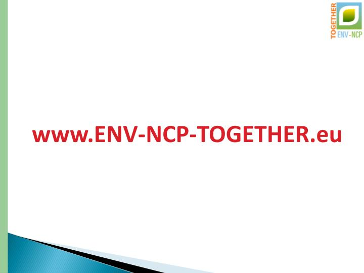 www.ENV-NCP-TOGETHER.eu