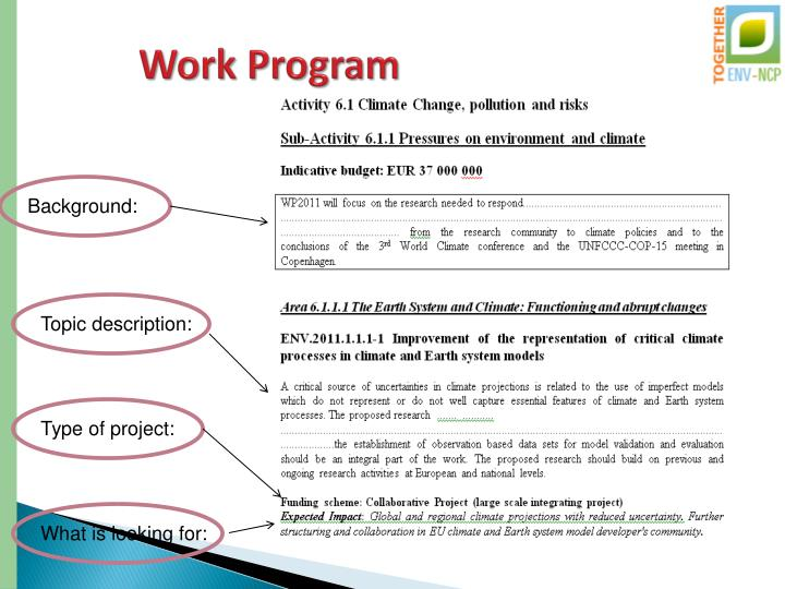 Work Program