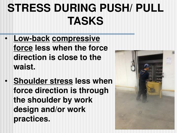 STRESS DURING PUSH/ PULL TASKS