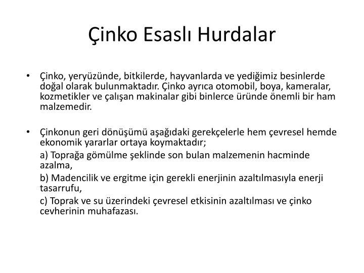 inko Esasl Hurdalar