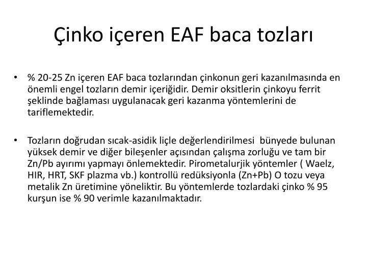 inko ieren EAF baca tozlar