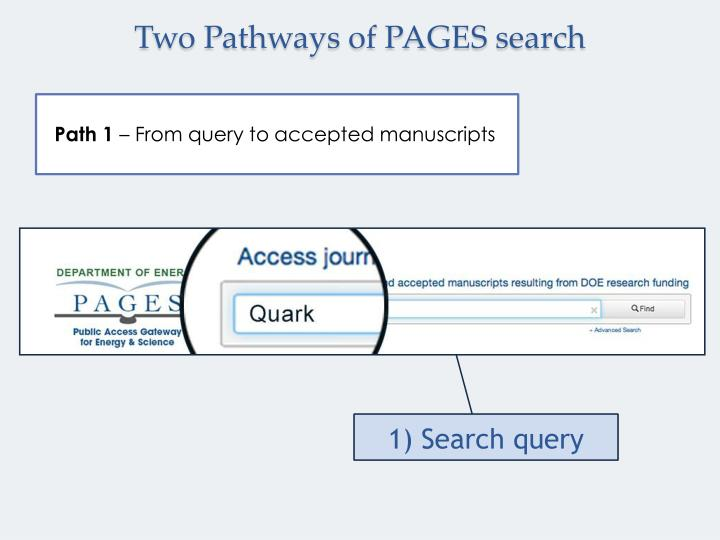 Two Pathways of PAGES search