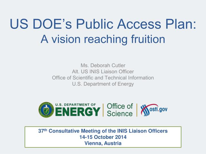 Us doe s public access plan a vision reaching fruition