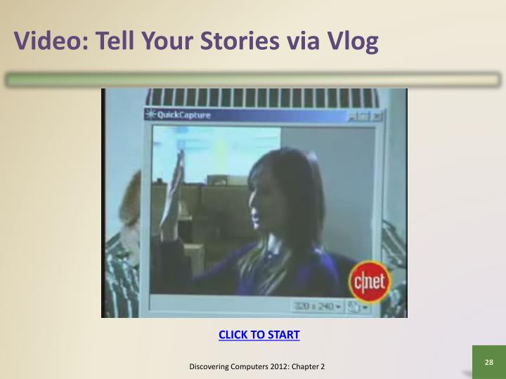 Video: Tell Your Stories via