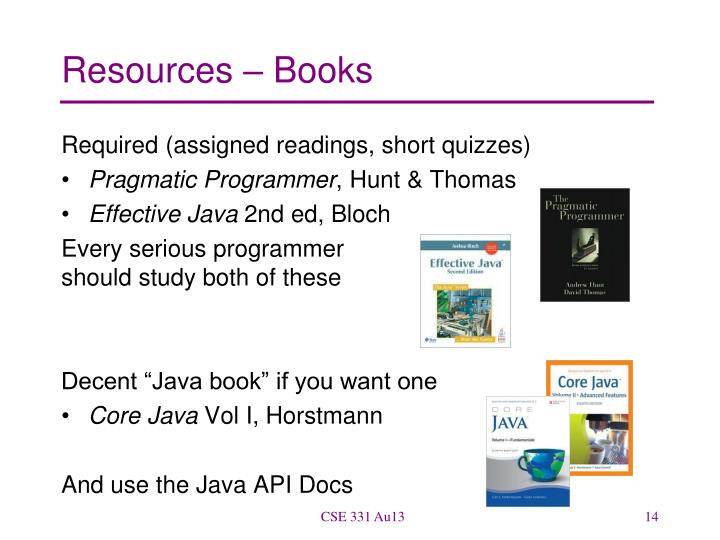Resources – Books