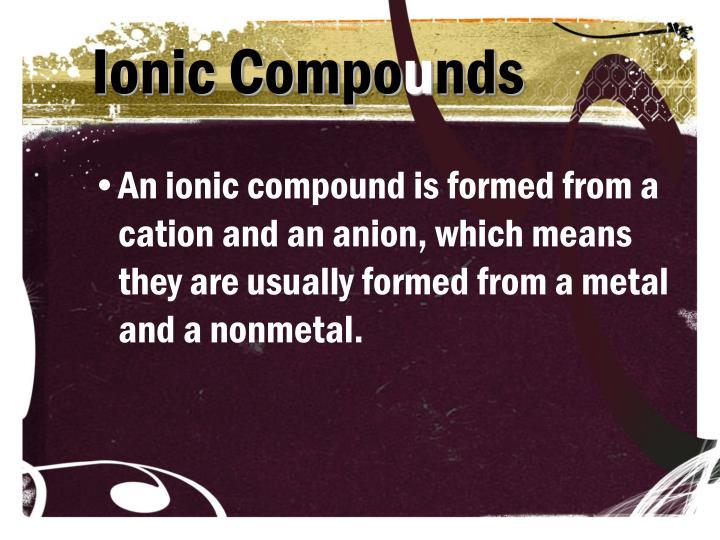 Ionic Compo