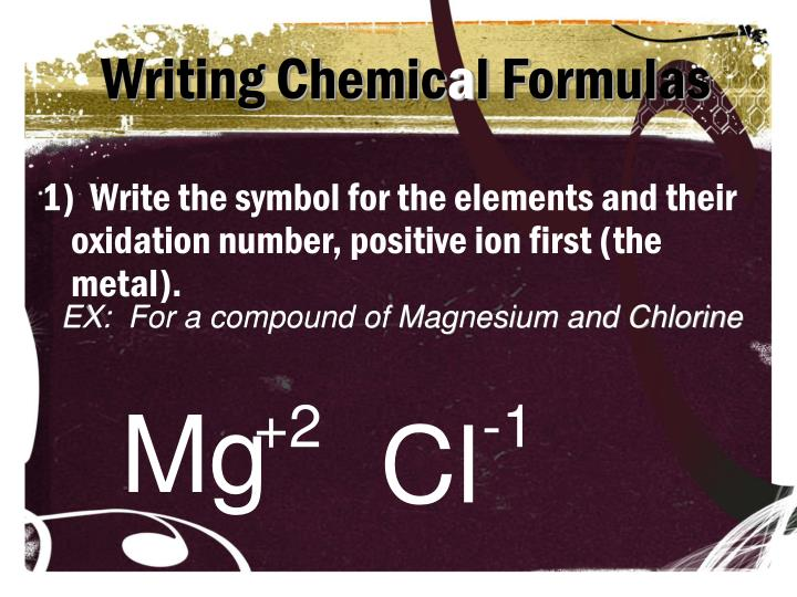 Writing Chemic
