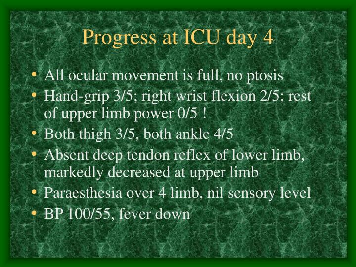 Progress at ICU day 4