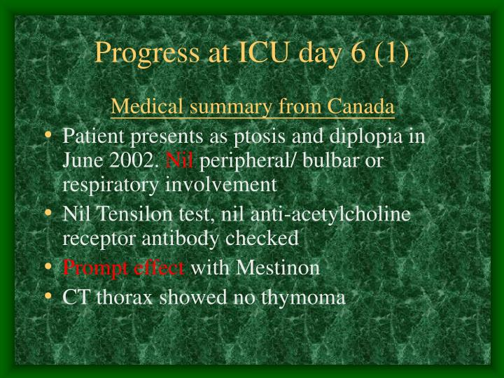 Progress at ICU day 6 (1)