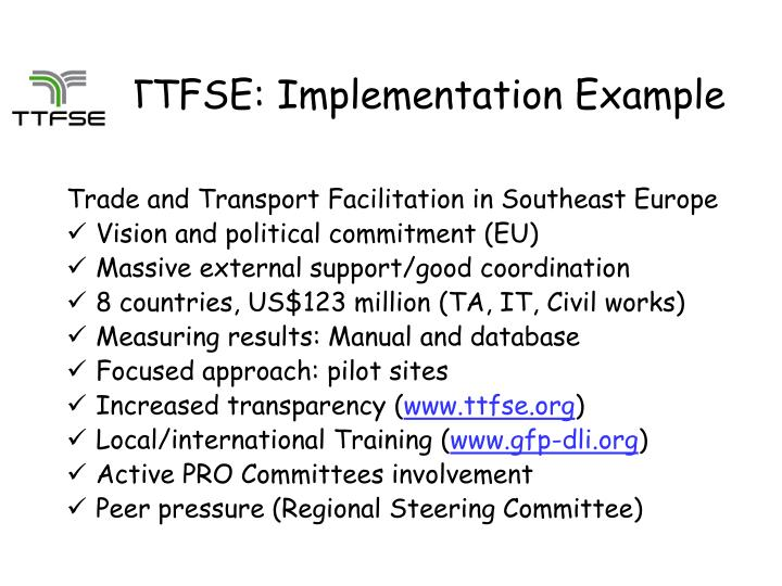 TTFSE: Implementation Example