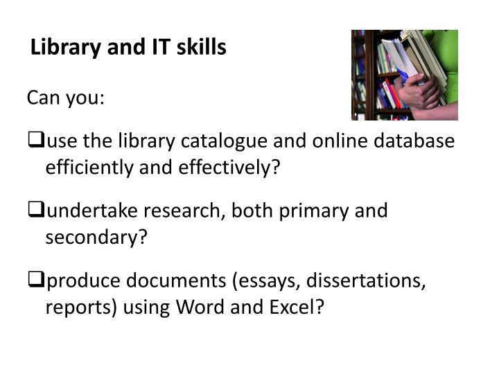 Library and IT skills