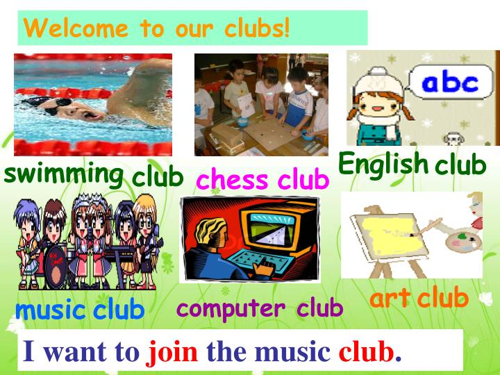 Welcome to our clubs!