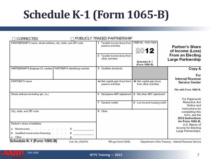 Schedule K-1 (Form 1065-B)